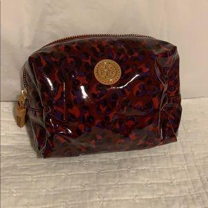 Tory Burch cheetah leopard print makeup bag
